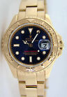 Rolex Lady Yachtmaster Yellow Gold Blue Dial 169628 29mm - WATCH CHEST