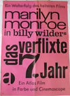 MARILYN MONROE BILLY WILDER THE SEVEN YEAR ITCH  RARE GERMAN ORIG POSTER