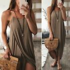 Women Sexy Sleeveless Boho Loose Long Dress Summer Cocktail Party Beach Sundress