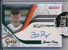 Buster Posey Giants 2008 Tristar Prospect Plus Farm Hands Auto Green 21 50