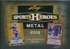 2018 LEAF METAL SPORTS HEROES SEALED HOBBY BOX