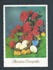 Happy Easter Herzliche Ostergube German postcard with Chicks Eggs