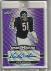 DICK BUTKUS AUTO PURPLE WAVE REFRACTOR # 7 2018 LEAF METAL SPORTS HEROES