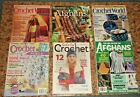 Lot of 34 Crochet Books Booklets Magazines Leaflets and Patterns