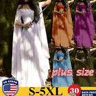 Medieval Sexy Off Shoulder Long Dress Vintage Gothic Gown Maxi Cosplay Plus Size