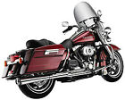 Supertrapp Chrome 2 into 1 Supermeg Exhaust for 1985 2006 Harley 828 71453