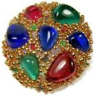 Vintage Nina Ricci Paris Runway Gripoix Poured Glass Brooch Pin
