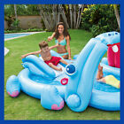 Banzai Kids Inflatable Hippo Play Center Kids Pool Slide And Sprayer kiddie pool