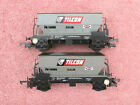 LIMA 305638 TWO TILCON 50 TON PGA AGGREGATE HOPPER WAGONS GOOD CONDITION