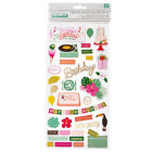 Pink Paislee Birthday Thickers Scrapbook Stickers NEW Confetti Wishes Party