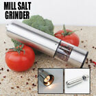 Pair Stainless Steel Electric Salt Pepper Mills Grinders Kitchen Spice