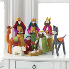 RAZ Imports 155 Nativity Set 9 Plush Christmas Beautiful Children Child NEW