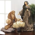 RAZ Imports 135 Holy Family Set 3 Beautiful Taupe Ivory Christmas NEW Nativity
