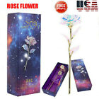 Galaxy Rose Flower Valentines Day Lovers Gift Romantic Crystal Rose With Box D