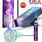 USA Galaxy Rose Flower Valentines Day Lover Gift Romantic Crystal Rose With Box