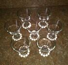 7 MCM Vintage Anchor Hocking Clear Boopie Footed Juice Sherbert Wine Glass 4