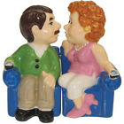 New KISS Salt  Pepper Shakers Set COUCH POTATO COUPLE Figurine Statue SOFA