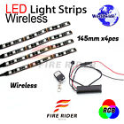 4 Pcs 145mm Motors Exterior Wheel RGB LED Lighting Strips For Cagiva Raptor