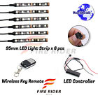 6 Pcs 95mm Motors Exterior Wheel RGB LED Lighting Strips For Moto Guzzi Norge
