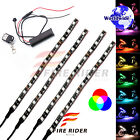 4 Pcs 190mm Motors Exterior Wheel RGB LED Lighting Strips For Moto Guzzi Breva