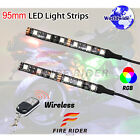 2 Pcs 95mm Motors Exterior Wheel RGB LED Lighting Strips For Suzuki DRZ 400 125