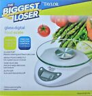 NEW Taylor Precision Products Glass Top Biggest Loser Digital Kitchen Scale