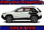2014 2019 Jeep Cherokee Splatter Side Stripes 3M Vinyl Decal Graphics Back Door