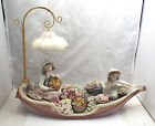 Large Lladro #5966 Flowers Forever, Girls in Boat w/ Flowers, w/ box, some chips