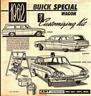 VINTAGE AMT 1962 BUICK WAGON 3 IN 1 MODEL KIT INSTRUCTION BROCHURE