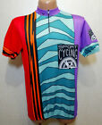 RARE VINTAGE RETRO 70S 80S MEN CYCLING BICYCLE SHIRT JERSEY ERIMA ITALY SIZE 8