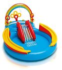 Inflatable Play Center For Kids New Rainbow Ring Water Swimming Pool with Slide