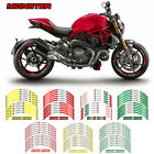 For DUCATI MONSTER  #style 2 motorcycle wheel sticker Motorcycle accessories #sz