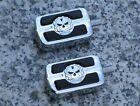 Harley Davidson Sportster Softail Dyna Electra Glide CHROME SKULL SHIFT PEGS