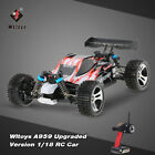 Wltoys A959 Upgraded 1/18 Scale 2.4G RC 4WD Electric RTR Off-Road RC Car P6N6
