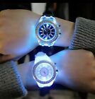 Led Flash Luminous Watches Personality Trends Students Lovers Jellies Woman...
