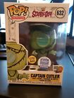 Funko Pop Shop Animation Scooby Doo Captain Cutler Glow The Dark GITD Exclusive