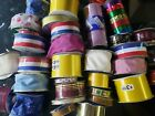 Huge Lot Sewing Ribbons all kinds some new some barely used 35 pcs