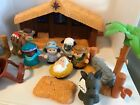 2002 Fisher Price Little People Deluxe Christmas Story Nativity Lights Musical