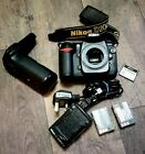 Nikon D200 Body Plus: 2 Battery, charger, card 8GB, Multi Power Battery Pack.