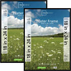Set of 2 18 x 24 Basic Poster Frame Picture Frame Home Wall Decor Black