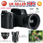 33MP 1080P Digital Camera Camcorder 24X Zoom Telephoto Lens Adopts 13M Sensor UK