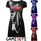 Plus Size Women Short Sleeve Round Neck Print Tunic Gothic Style Summer Dress US
