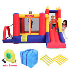 Inflatable Bouncer Kids Bounce House Jumping Castle Garden Outdoor w Air Blower