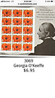 3069 Georgia OKeeffe Red Poppy Sheet of 15 32 cent US postage stamps