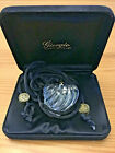 VINTAGE GIORGIO CLEAR CRYSTAL BACCARAT HEART NECKLACE IN BOX