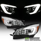 Chrome Halogen 2013 2016 Ford Escape LED Tube Headlights Headlamps Left+Right