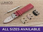 For HUBLOT Watch Red Genuine Leather Strap Band Buckle Mens Ladies Pins 12-24mm