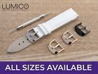 For CHANEL Watch White Genuine Leather Strap Band Buckle Mens Ladies 12-24mm
