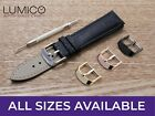 For HUBLOT Watch Black Genuine Leather Strap Band Buckle Clasp Mens Ladies