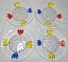 Kosta Boda Ulrica Hydman Vallien Tulip 10 Dinner Plates Set Lot 4 Hand Painted